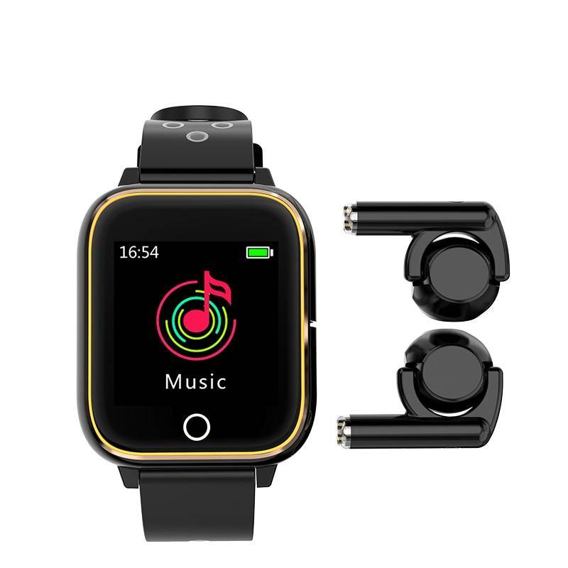 Men's Casual Smart Watch with Wireless Earphones Fitness Bracelets & Smart Watches Sports Accessories cb5feb1b7314637725a2e7: All Black Gold Black grey Pink
